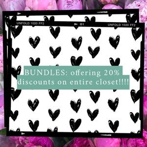 BUNDLES: 20% discount on bundles.